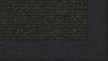 Tretford Teppiche mit Bordüre aus Filz 2 Meter Breit Größe 550 cm, Farbe B534 Anthrazi