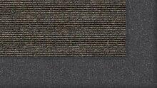 Tretford Teppiche mit Bordüre aus Filz 4 Meter Breit Größe 300 cm, Farbe B512 Schiefer