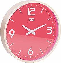 Trevi OM 3311L Wanduhr, Holz/Kunststoff, Rosa, 25