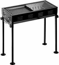TRGCJGH Barbecue Tragbare Edelstahl Faltgrill