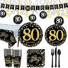 Trgowaul Partyzubehör zum 80. Geburtstag –