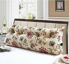 Triangle Big Back auf dem Bett Sofa Long Pillow kann abnehmbare Waschkissen ( Farbe : D , größe : 120*20*50cm )