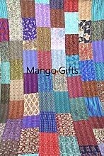 Tribal Asian Textiles Gesteppte Tagesdecke,
