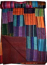 Tribal Asian Textiles Patchwork-Tagesdecke,