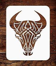Tribal Bull-Schablone - wiederverwendbare