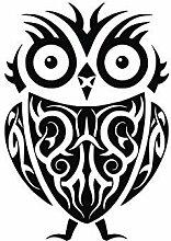 Tribal Owl Aufkleber Für Die Wanddekoration