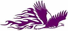Tribalaufkleber fliegender Adler Aufkleber Motiv 650 in 7 Größen und 25 Farben (40x17,6cm violett)