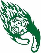 Tribalaufkleber Tiger Tribal Aufkleber 612 in 6 Größen und 25 Farben (38x50cm grasgrün)