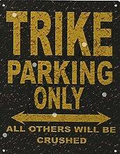TRIKE Metall Parking Rustikaler Stil den großen 30,5x 40,6cm 30x 40cm Auto Schuppen Dose Garage Werkstatt Art Wand Spiele Raum
