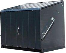 Trimetals Fahrradbox Stowaway, Mülltonnenbox für