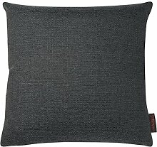 TRINIDAD Kissenhülle uni mit Reißverschluss von Magma Heimtex aus Jacquard, hochwertiges Wohnaccessoire, einfarbiges Kissen, Kissenbezug, Jacquardkissen, Heimtextilien (ca. 40 x 40 cm, Anthrazit)