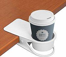 Trinkbecher Halterung Clip–Home Auto Büro Tisch Schreibtisch Stuhl Kanten Cupholder für Water Drink Getränk Soda Kaffee Tasse weiß