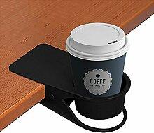 Trinkbecher Halterung Clip–Home Auto Büro Tisch Schreibtisch Stuhl Kanten Cupholder für Water Drink Getränk Soda Kaffee Tasse schwarz