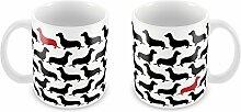 Trinkbecher / Tasse, Design Nr. 184, Geschenkidee für Hundeliebhaber, Dackel-Motiv