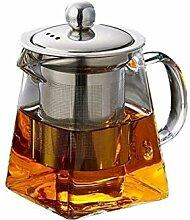 Trinken Herd Hitzebeständiges Glas Teekanne mit