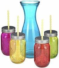 Trinkgläserset 9 teilig ( 1 Glaskaraffe und 4