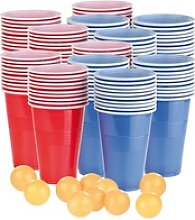 Trinkspiel-Set Bier Pong mit 120 Bechern (je 450