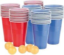 Trinkspiel-Set Bier Pong mit 60 Bechern (je 450