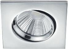 Trio - LED Einbaustrahler Pamir in Chrom eckig