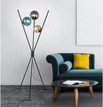 TRIO LED Stehlampe, Dreibein Glas-kugel Tripod
