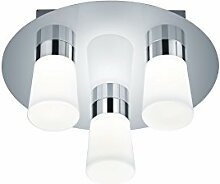 Trio Leuchten LED-Bad-Deckenleuchte, chrom, Glas