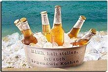 TRIOSK Blechschild Bier Kaltstellen lustig mit