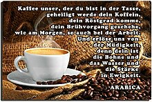 TRIOSK Blechschild Coffee lustig mit Spruch Kaffee