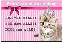 TRIOSK Blechschild Katze lustig mit Spruch