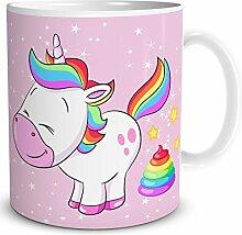TRIOSK Einhorn Tasse mit Lustigem Unicorn