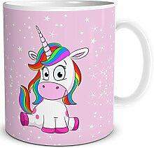 """TRIOSK Einhorn Tasse mit Lustigem Unicorn """"Lady"""