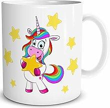 TRIOSK Tasse Einhorn lustig mit Regenbogen Unicorn