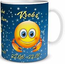 TRIOSK Tasse Smiley Sternzeichen Krebs lustiges