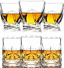 Triplorare Whiskeygläser 10oz 6er Set Old