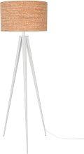 Tripod Cork - Stehlampe - Weiß