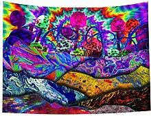 Trippy Psychedelischer Wandteppich – Magischer
