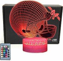 TRIPRO 3D-LED-Schreibtischlampe, mit beleuchteter