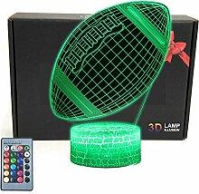 TRIPRO 3D-LED-Schreibtischlampe mit Fußball,