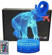 TriPro Elefant Wild Animals Illusion Raumdekor