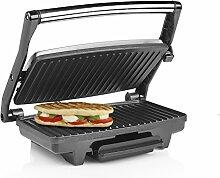 Tristar Edelstahl Kontaktgrill/ Sandwich Grill - mit Handgriff, antihaftbeschichtet, integrierte Fettablauffunktion, GR-2899