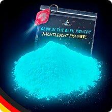 Tritart Leuchtpulver Blau 140g / Pigmente Nachtleuchtend / Phosphoreszierendes Glow Pulver / Neon Farbpulver + Gratis UV Lampe