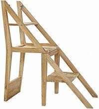 Tritthocker Massive Holz-Schritt-Stuhl, 2