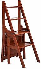 Trittleiter Solid Wood Klappleiter Hocker Treppen