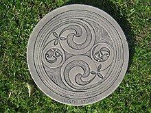 Trittstein Keltisch Zwei Strudel (2 Swirl) ||
