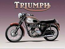 Triumph Bonneville Motorrad Zyklus. Klassisch britische. triumph logo für verbindung, haus, heim, mann höhle und petrol kopf Metall/Stahl Wandschild - 30 x 40 cm