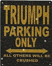 Triumph Metall Parking Rustikaler Stil den großen 30,5x 40,6cm 30x 40cm Auto Schuppen Dose Garage Werkstatt Art Wand Spiele Raum