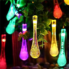 TRIXES Garten Lichterkette mit 20 Multicolor Solar LED Eiszapfen