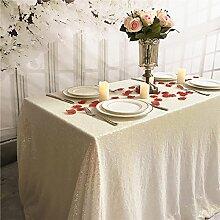 TRLYC Handmaded Hochzeit Pailletten-Tischdecke,