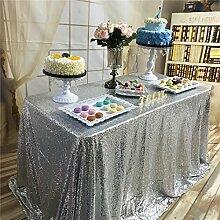 TRLYC Pailletten-Tischdecke, rechteckig, Hochzeit,