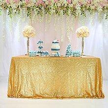 TRLYC rechteckig Pailletten Tischdecke für