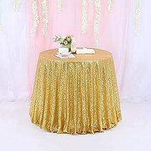 TRLYC Runde Pailletten-Tischdecke für Hochzeit,